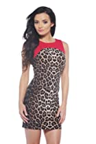AX Paris Contrast Panel Leopard Bodycon Dress