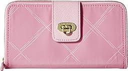 Vera Bradley Women\'s Preppy Poly Wallet Blossom Pink Clutch