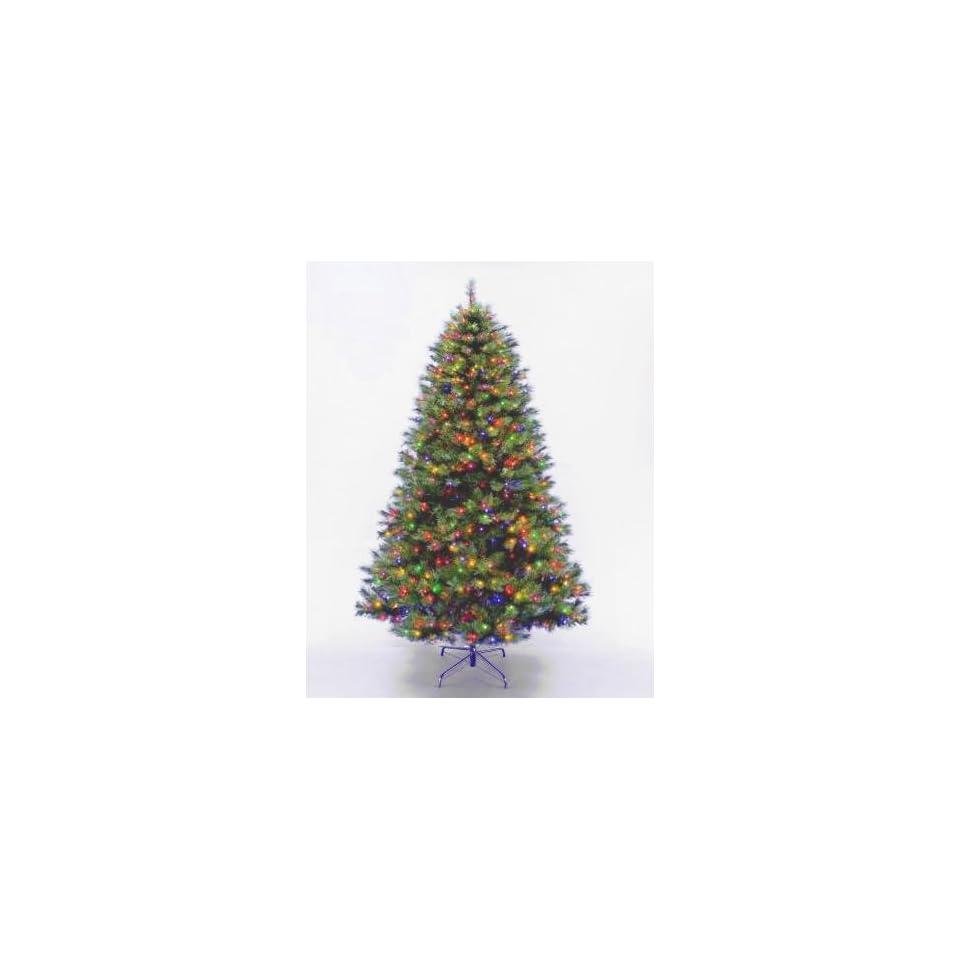National Tree Company LEX1 301 75 7.5 Foot Lexington Fir Hinged Tree with 650 Multi Lights