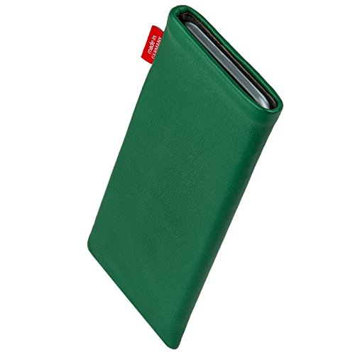 fitBAG Beat Green custom tailored sleeve for LG E430 Optimus L3 II 2. Fine nappa leather pouch with integrated microfibre lining for display cleaning sale off 2016