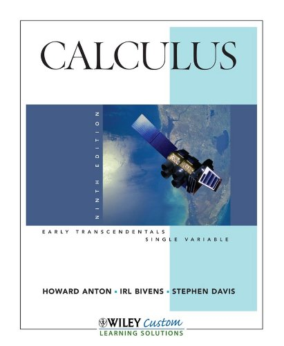 Calculus, Ninth Edition, Early Transcendentals (Early...