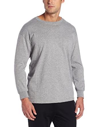 Russell Athletic Men's Basic Cotton Long Sleeve Tee, Oxford, Small