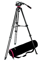 MANFROTTO VIDEO TRIPOD MVK 502 AM-1 WITH 502 FLUID HEAD