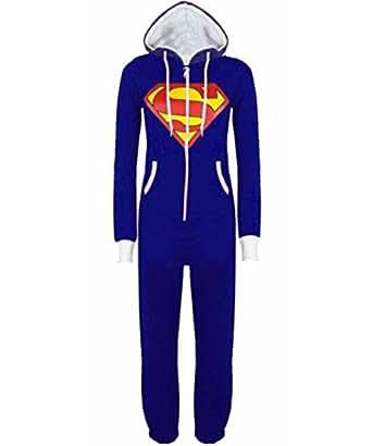 königsblau Superman 2XL-48 Luzia New der Frauen Erwachsene Mens Unisex Aztec Superman Batman Damem Hoody Jumpsuit Onesie