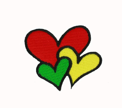 Manufacturer Three Color Heart Iron On Patch For Kids Baby - High Quality