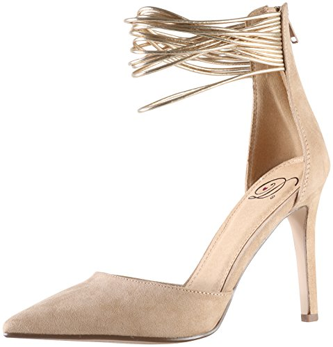 Delicious by Soda Women's Dancing Sexy Anklet Evening Pumps (8 B(M) US, Taupe/Gold) (Dancing Soda compare prices)