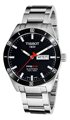 Tissot Men's T0444302105100 PRS 516 Black Day Date Dial Watch by Tissot