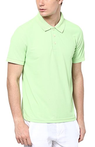 American Crew Men's Polo Collar Light Green T-Shirt – M (AC137A-M)