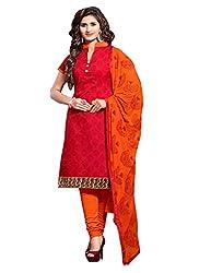 Cotton Embroidered Designer Patiyala Suit
