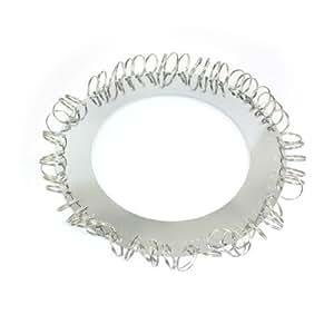 Silver Tone Metal Round Plate 58 Positions Key Organizer Holder Keyrings