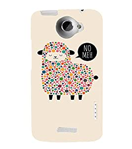 EPICCASE Dotted Sheep Mobile Back Case Cover For HTC One X (Designer Case)