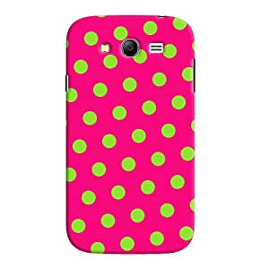 ColourCrust Samsung Galaxy Grand Duos / i9082 Mobile Phone Back Cover With Polka Dots Pink Pattern Style - Durable Matte Finish Hard Plastic Slim Case