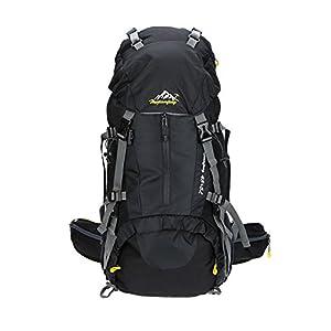 Lixada 50L Sac à dos avec Housse Imperméable pour Sport Randonnée Trekking Camping Backpack Voyage Paquet Alpinisme Escalade