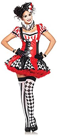 Leg Avenue Womens Harlequin Clown Adult Costume