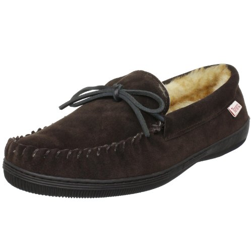 Tamarac by Slippers International 7161 Men's Camper Moccasin,Rootbeer,8 M US