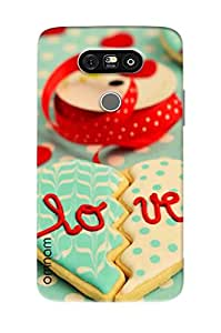 Omanm Broken Heart Made Of Cookies With Love Printed Designer Back Cover Case For LG G5