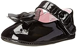 Baby Deer Patent SM With Bow Mary Jane (Infant),Black,2 M US Infant