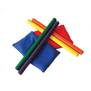 4 Lummi Sticks and 2 Bean Bags by Tumble Tots