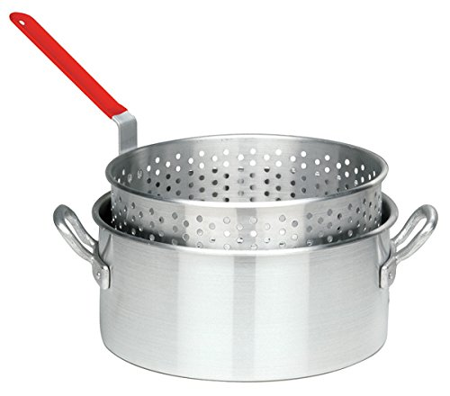 Bayou Classic 10 Quart Aluminum Fry Pot and Basket with Cool Touch Handle (10qt Fry Pot compare prices)