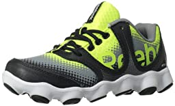Reebok ATV19 Sonic Rush Running Shoe (Little Kid/Big Kid),Neon Yellow/Flat Grey/Black/White,13 M US Little Kid