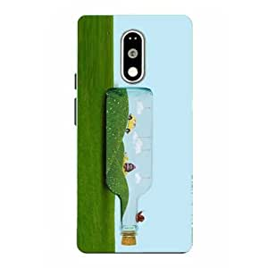 Snazzy Grass Printed Green Hard Back Cover For Motorola Moto G4 Plus