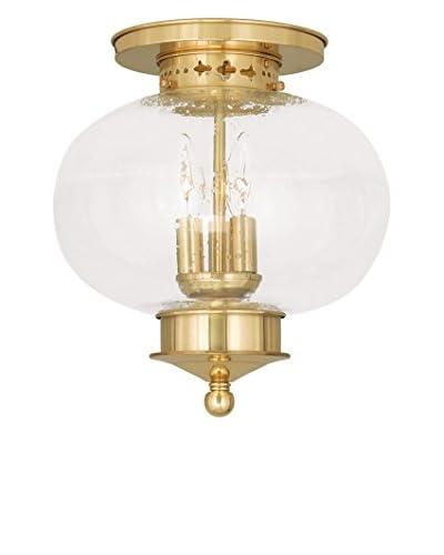 Crestwood Lucia 3-Light Ceiling Mount, Polished Brass