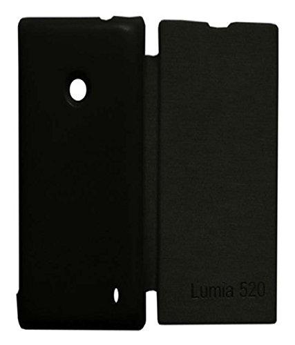 Totelec Premium Black Flip Cover Case For Nokia Lumia 520/525