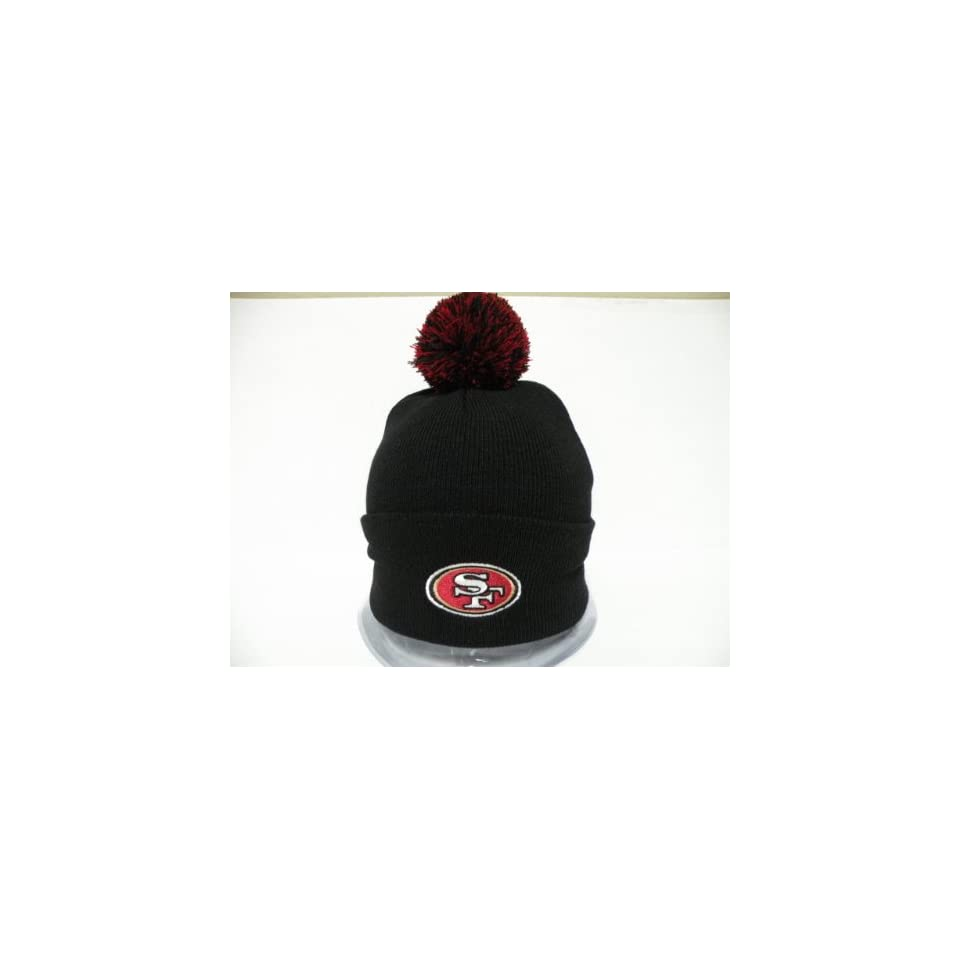 Authentic NFL San Francisco 49ers Logo Retro Black Toque Pin Pin Beanie Cap