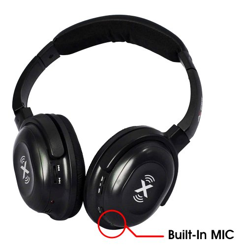 Axess Hpbt-604Blk-Wireless Bluetooth Stereo Headphones With Built-In Microphones