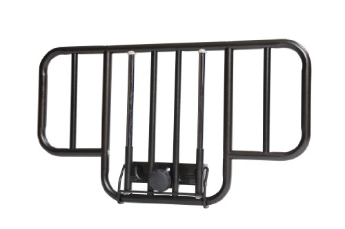 Drive Medical No Gap Deluxe Half Length Side Bed Rails with Brown Vein Finish, Brown Vein, Half Length