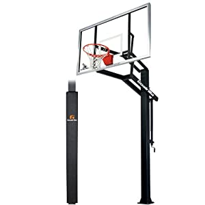 Goalrilla GLR GSI SPP In-Ground, Adjustable 72 Basketball System with Pole Pad by Goalrilla
