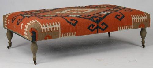 Cheap Hand Woven Kilim Rectangular Ottoman / Coffee Table (B00551ORC6)