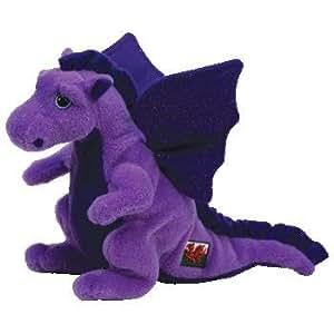 "Dwynwen The Purple Dragon - 6"" TY Beanie Baby"