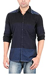 EASIES Men's Casual Shirt (81478 VARICK E702UASFFSSC STRBLNVY_M, Multi-Coloured, Medium)