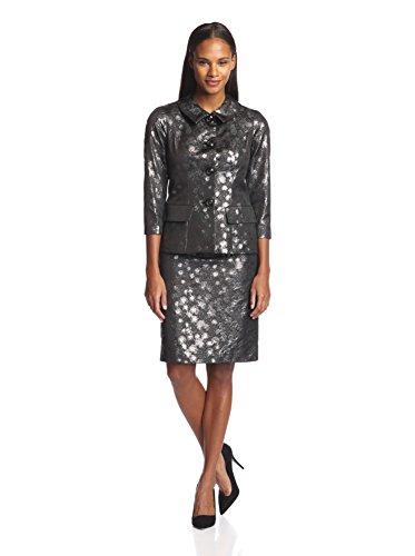 Bigio Women's Brocade Skirt Suit