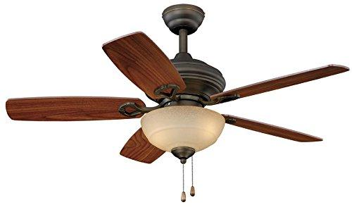 Harbor Breeze Tilghman 52-in New Bronze Indoor//Outdoor Downrod Or Close Mount Ceiling Fan ENERGY STAR