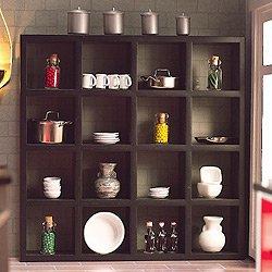 Casa de muñecas Estantería Negra 16 compartimentos 4934