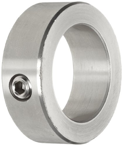 """Climax Metal C-062-S Shaft Collar, One Piece, Set Screw Style, Stainless Steel, 5/8"""" Bore, 1-1/8"""" OD, 1/2"""" Width, With 5/16-18 Set Screw"""