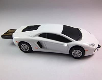 LAMBORGHINI 8GB 2.0 USB Flash Drive Memory Stick (WHITE). Presented in a Magnetic Gift Box. by NUT