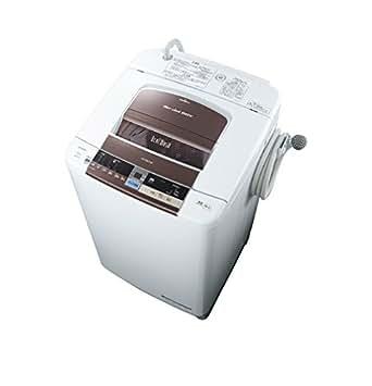 日立 10.0kg 全自動洗濯機 ダークブラウンHITACHI ビートウォッシュ BW-10TV-T
