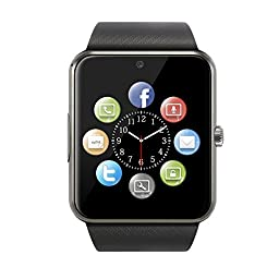 Smart Watch,Smartwatch,UINSTON Smart Phone Smart Watch Phone Bluetooth Smart Watch Wrist Watch IOS Android WindowsPhone SIM/TF - Black