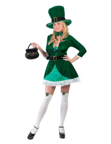 Luscious Leprechaun Adult Md-lg St. Patrick's Day Costume