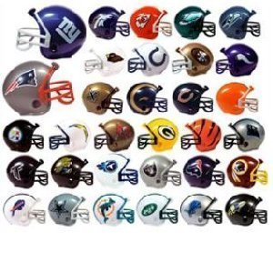 NFL Mini Helmet Toppers - Full Set of 32 Count (Patriots Party Supplies)