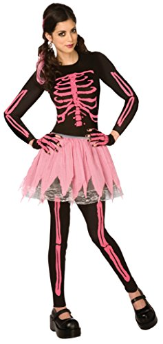 Morris Costumes Womens Pink Punk Skeleton Halloween Theme Party Fancy Dress
