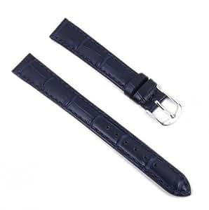 Eulit Bracelet de Montre cuir Guinea bleu foncé 14mm XL 800721450