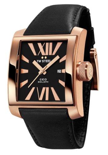 Imagen de CEO CE3011 hombres de acero TW Dial Negro Reloj
