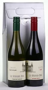 French Twins - Le Grand Duc Red and White Wine Gift Pack