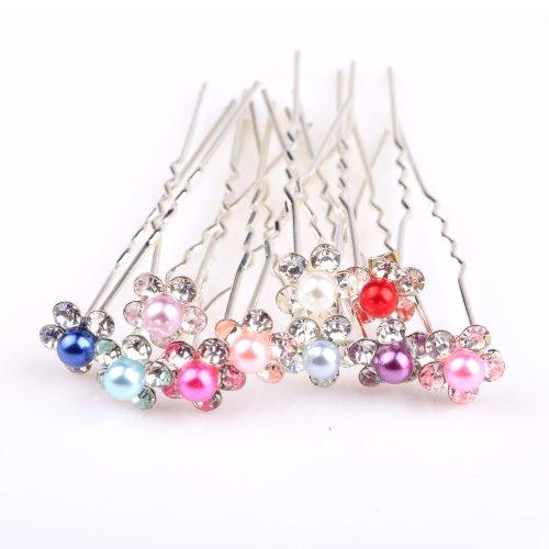 ilovediy-10pcs-mixed-color-crystal-hair-pins-with-pearls-decorative-for-buns
