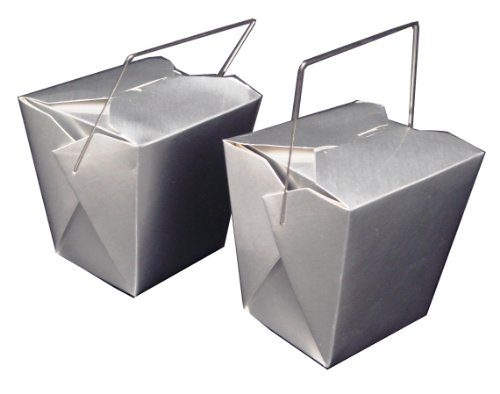 WeGlow International Chinese Food Decoration Box Silver (5 pieces)