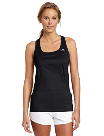 adidas Women's response Fitted Tank, Black/White, XX-Small